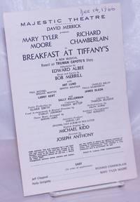 image of Majestic Theatre, David Merrick presents Mary Tyler Moore, Richard Chamberlain in Breakfast at Tiffany's: a new musical based on Truman Capote's story, adaptation by Edward Albee, music_lyrics by Bob Merrill [program] Dec. 14, 1966