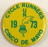 Cycle Runners / 1973 / Cinco de Mayo [pinback button]