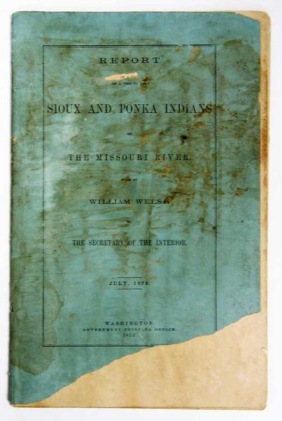 Washington: Government Printing Office, 1872. 1st edition. Original printed blue-green wrappers, sta...