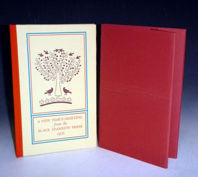 Santa Barbara, (1976): Black Sparrow Press. Limited Edition. Octavo. Limited to 33 signed by both au...