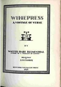 Winepress, A Vintage Of Verse