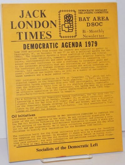 San Francisco: Democratic Socialist Organizing Committee, Bay Area, 1980. Two 8.5x11 inch newsletter...