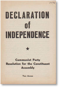 Declaration of Independence: Communist Party Resolution for the Constituent Assembly