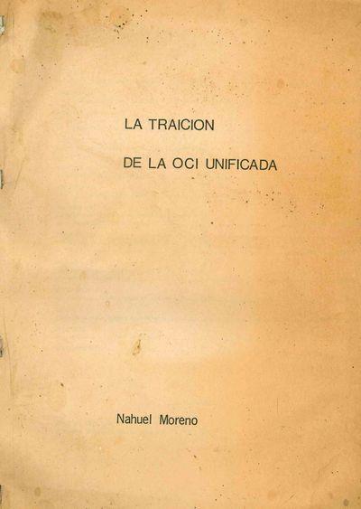 Unpaginated (approx. 123 pp.) typescript document comprising Moreno's theoretical essay on the OCI a...