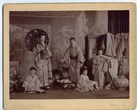 Fine unsigned Tableau Vivant representing 'A Japanese Family' by Hughes & Mullins, (Duke of Connaught, 1850-1942, Son of Queen Victoria, Governor General of Canada) with his wife LOUISE MARGARET (Alexandra Victoria, 1860-1917, Daughter of Prince Friedrich Karl of Prussia, Duchess of Connaught) and their daughters MARGARET (1882-1920, Princess of Connaught, 'Daisy', Crown Princess of Sweden) & PATRICIA (Princess of Connaught, 1886-1974, 'Patsy', later Lady Patricia Ramsay) & son ARTHUR (1883-1938, Major General)] by [ARTHUR - from Sophie Dupre and Biblio.com