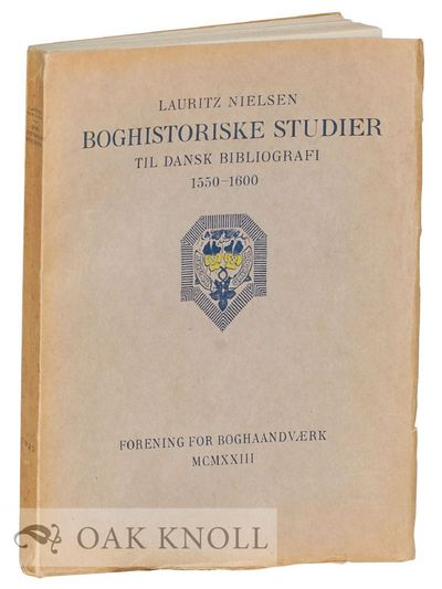 Kobenhavn: n.p., 1923. stiff paper wrappers. 4to. stiff paper wrappers. (vi), 164 pages followed by ...