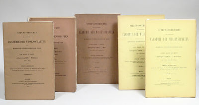 Wien , 1866. First edition. Original wrappers. Very Good. THE ORIGIN OF STATISTICAL MECHANICS: FIRST...