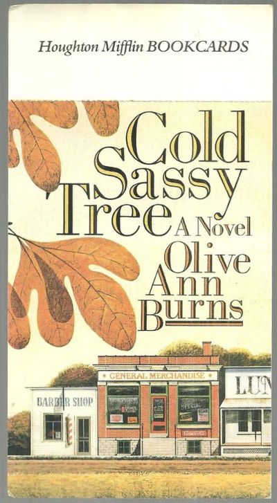 Image for HOUGHTON MIFFLIN BOOKCARDS POSTCARD ADVERTISING COLD SASSY TREE A NOVEL BY OLIVE ANN BURNS
