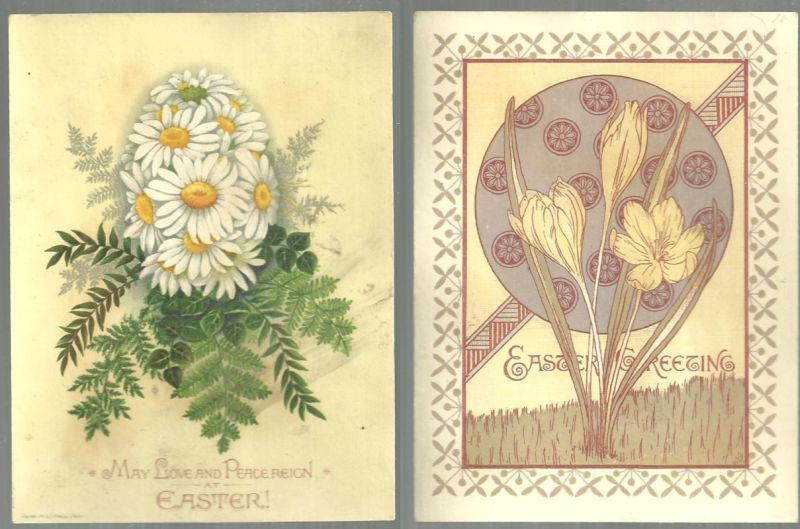 Image for VICTORIAN EASTER CARD WITH DAISY EGG