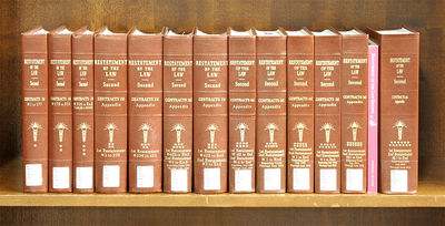 2018. Restatement of the Law Second. Contracts. Complet set, in 13 Volumes current through 2018 supp...