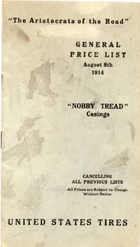 image of Nobby Tread Casings General Price List August 8, 1914