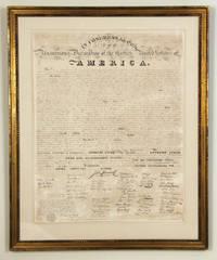 Declaration of Independence: Benjamin Tyler 1818 - First Print with Facsimile Signatures