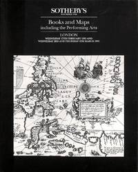 Sale 17 Febr. & 3/4/March 1993: Printed books and maps, including the  performing arts.