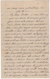 Civil War letter from Union soldier besieging Petersburg, Virginia describing shelling by Confederate artillery