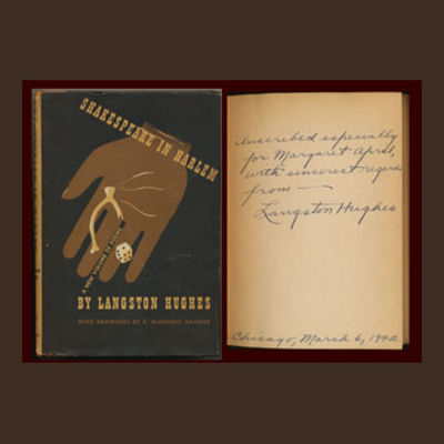 Hughes, Langston in SHAKESPEARE IN HARLEM. Signed and Inscribed. With drawings by E. McKnight Kauffe...