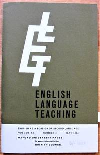 Some Problems of English in Western Nigeria. Essay in English Language Teaching. Volume XX, Number 3, May 1966