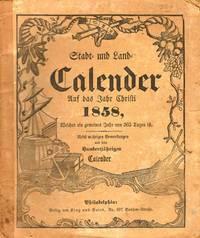 Stadt und Land Calendar 1858