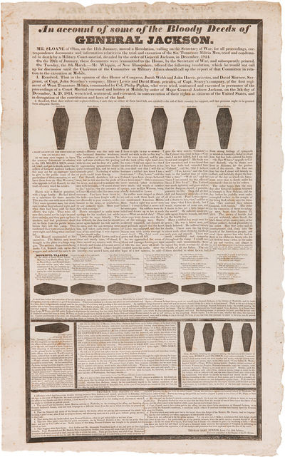 [N.p., 1828. Broadsheet, 25 3/4 x 16 inches. Minor edge wear and foxing. Two small oval areas of los...