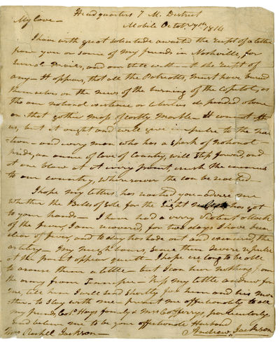Incredible Andrew Jackson Letter to...