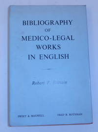 Bibliography of  Medico-legal Works in English
