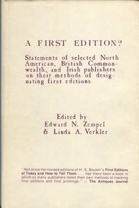 A First Edition? Statements of Selected North American, British Commonwealth, and Irish...