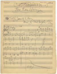 The Far Horizon [Autograph manuscript piano-vocal score]