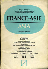 France-Asie / Asia. Revue bilingue des Problemes asiatiques et de Synthese culturelle. Bilingual Review of Asian Culture and Problems. Hiver 1966-67. Vol. XXI, No.2. 188 by  eds  Philippe - First edition - 1967 - from Kaaterskill Books, ABAA/ILAB and Biblio.com