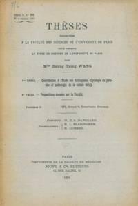 Contribution � l\'�tude des Ustilagin�es (Cytologie du parasite et pathologie de la cellule hote).