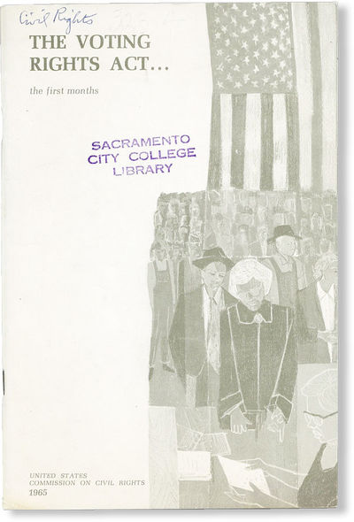 : United States Commission on Civil Rights, 1965. First Edition. Octavo (23cm.); publisher's pictori...