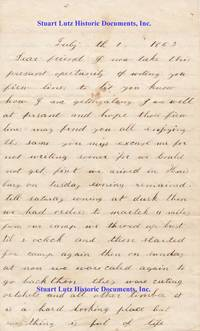 A Union Soldier Writes From Camp Curtin On The First Day Of The Battle Of Gettysburg