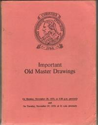 Important Old Master Drawings. 26 & 27 November 1973.