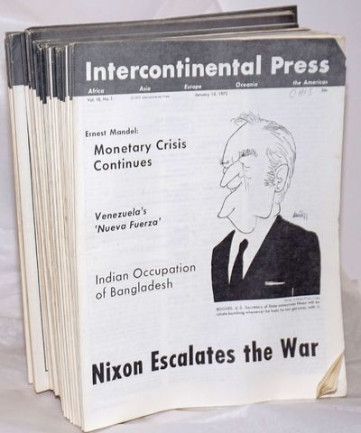 New York: Interncontinental Press, 1972. Complete run for the year, missing issues 32 &33, 45 issues...
