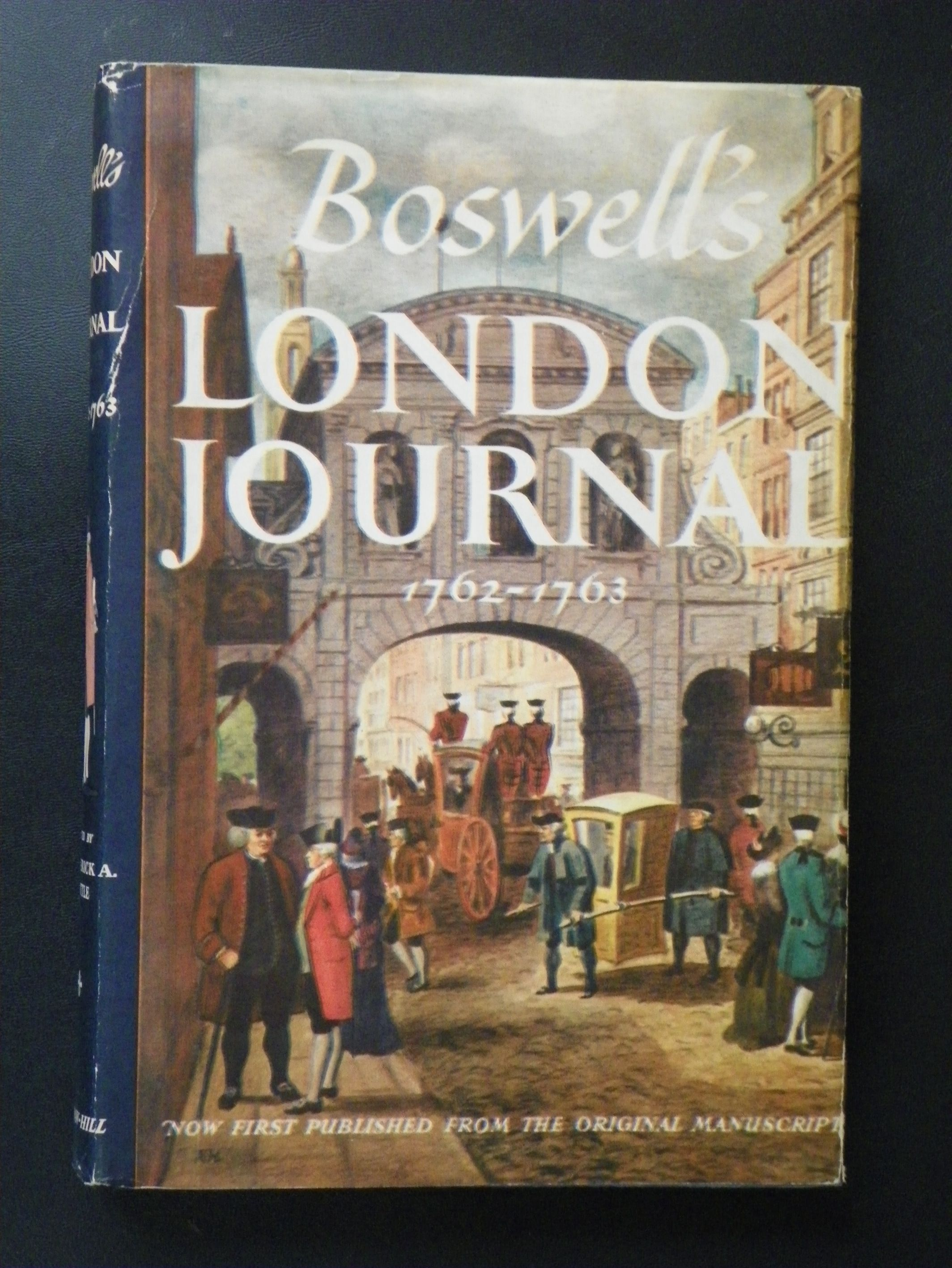BOSWELL/'S LONDON JOURNAL 1762-1763//1st Ed//Biography//Literary