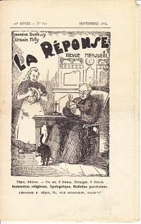 La Response Revue Mensuelle, No. 321, Septembre 1934  [The Response Monthly]