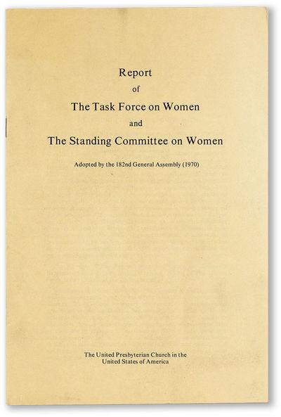 : United Presbyterian Church in the United States of America, 1970. Offprint. Octavo (23cm.); staple...