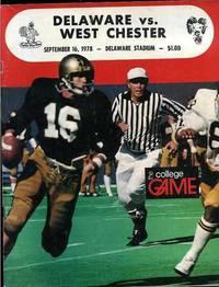DELAWARE VS WEST CHESTER Sept 16, 1978 Sports Program