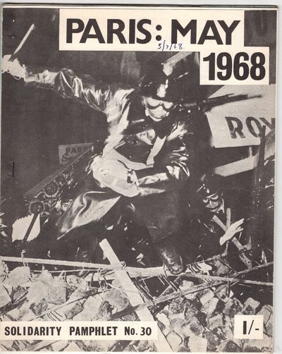 London: Solidarity , 1968. First Edition. Staplebound. Very good. 44p., side stapled, zine format. T...