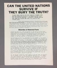 Can the United Nations Survive if They Bury the Truth by The Armenian National Committe - 1979 - from DuBois Rare Books (SKU: 002446)