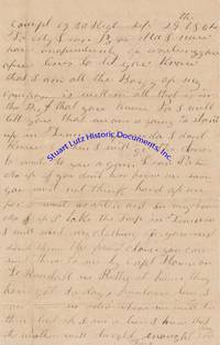 "A Confederate Soldier From The 19th South Carolina Regiment Writes Home, Mentions A ""Trip To Tennessee"""