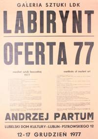 image of Complete set of eleven posters advertising Partum's performances or containing his manifestos