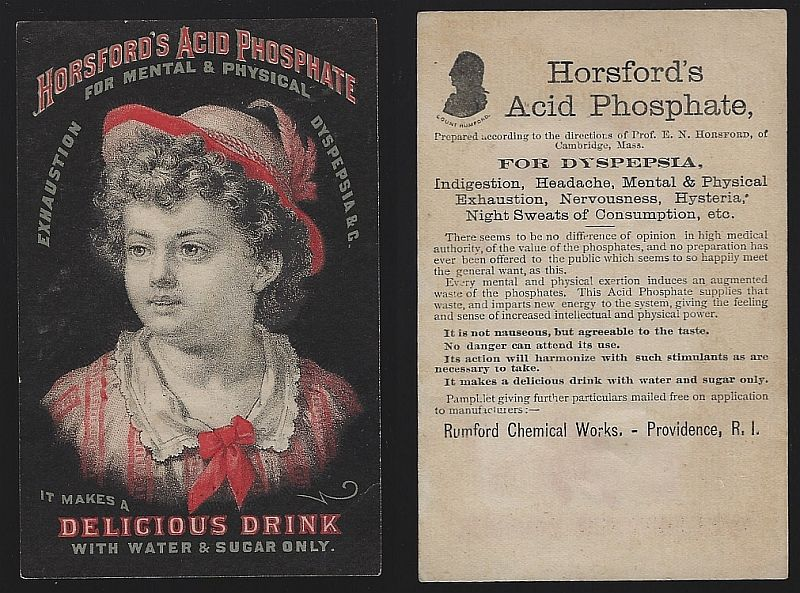 VICTORIAN TRADE CARD FOR HORSFORD'S ACID PHOSPHATE, Advertisement