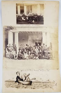 image of 14th Hussars in India.  Albumen photographs