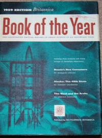 ENCYCLOPEDIA BRITANNICA BOOK OF THE YEAR 1959- EVENTS OF 1958-FREE SHIPPING
