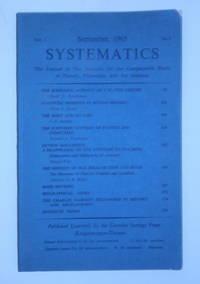"""""""The Scientific Activity of J. W. Von Goethe"""" IN SYSTEMATICS, Vol 3., No 2., September..."""