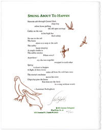 Spring About To Happen. [Broadside].