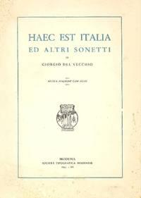 Haec est Italia ed altri sonetti