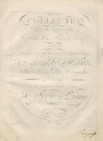 Paris: Bonjour , 1792. Folio. Discound. 1f. (recto series title, verso blank), 5, (blank) pp. Series...