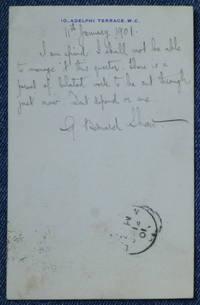 "Autograph Post Card Signed, to ""Wm. Earl Hodgson Jr."""
