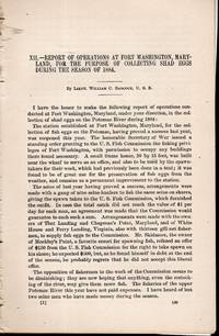 """PRINT: """"Report of Operations at Fort Washington, Maryland, for the Purpose of Collecting..."""