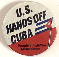 image of US hands off Cuba [pinback button]